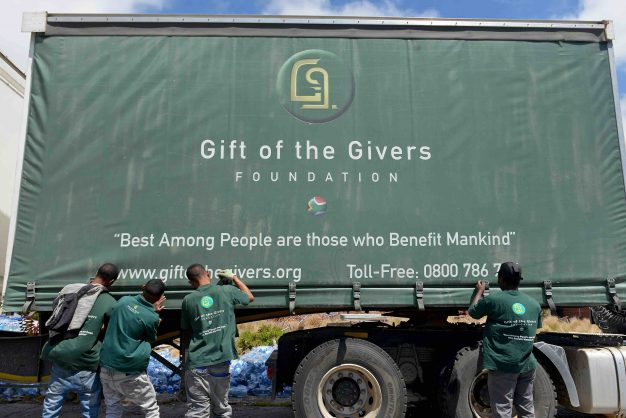 South Africa - Cape Town - 10 February 2019 - Gift of the Givers workers load tons of water onto trucks at their storage facility in Maitland. The water is destined for Makhanda (Grahamstown), which according to a Gift of the Givers press release, the speaker of the municipality says the town has been without water for 6 days. Picture: David Ritchie/African News Agency(ANA)