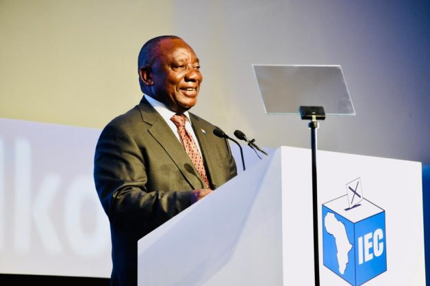 May 11 - President Cyril Ramaphosa speaking at the official announcement of the results of the general elections at the IEC results centre in Pretoria. Photo: GCIS
