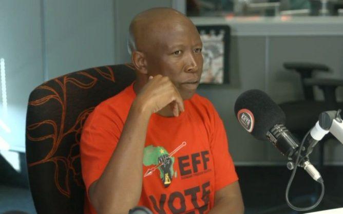 EFF leader Julius Malema on Kaya FM. Picture: Twitter (@Mine_Qha)
