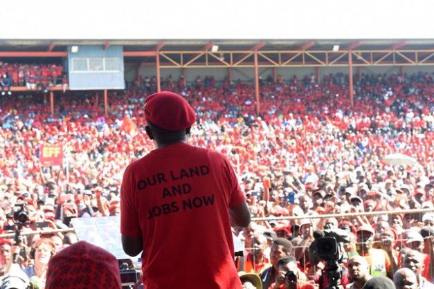 EFF leader Julius Malema speaks at Sankopano Stadium in Alexandra, Johannesburg, 1 May 2019 at a May Day rally. Picture: Nigel Sibanda