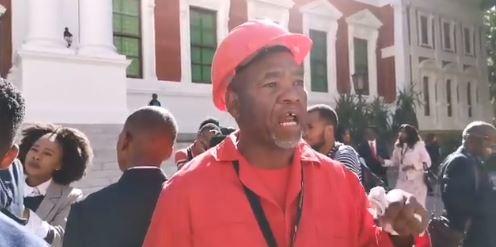 WATCH: EFF delegate breaks into tears asking Ramaphosa to release political prisoners
