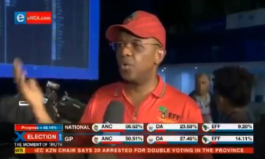EFF national chairperson Dali Mpofu on eNCA. Picture: Screenshot.