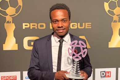WATCH: Percy Tau scores a blinder on debut, celebrates in style with fans