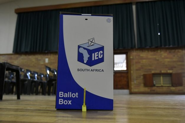 IEC election equipment at Hoerskool Linden, 6 May 2019 ahead of the general elections to take place on the 8th May 2019. Picture Neil McCartney