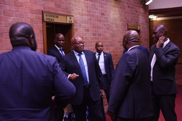 Former President Jacob Zuma  at Pietmarisburg High Court for corruption charges, 20 May 2019, fight for the court to grant him permanent stay of prosecution on the charges related to the multi - billion rand arms deal. Picture: Nigel Sibanda