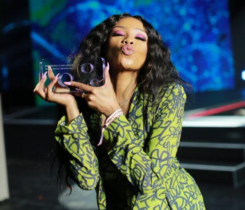 Bonang Matheba wins global social media award
