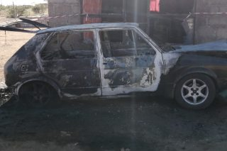 Toddler burns to death after car he was left in catches fire