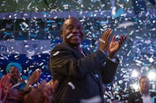 A pat on the back for Cyril Ramaphosa