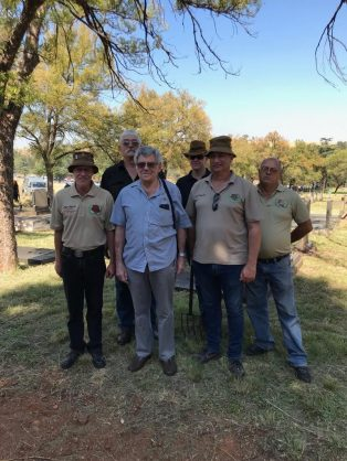 Military veterans band together to clean Centurion cemetery