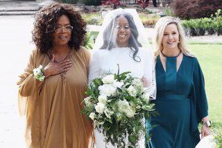 Pics: Oprah walks former SA Academy pupil down the aisle