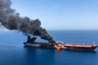 Damaged tanker arrives at UAE as US, Iran blame each other for attack