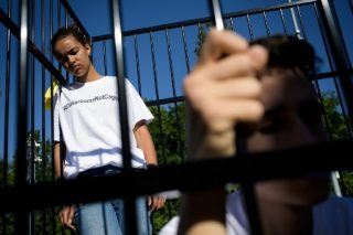 Kids in cages: Geneva protest urges UN action on Trump migration policy