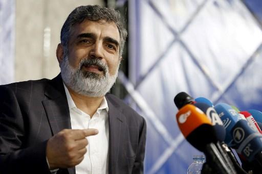 This file photo taken on July 17, 2018 shows the spokesman of Iran's Atomic Energy Organization (AEOI), Behrouz Kamalvandi, at a press briefing in the capital Tehran. Picture: ATTA KENARE / AFP