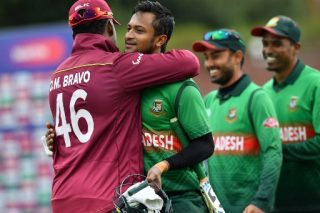 Shakib stars as Bangladesh stun West Indies with second-highest World Cup chase