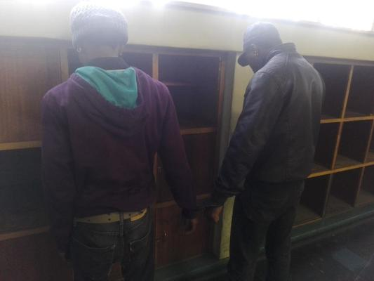 Two suspects nabbed for possession of stolen goods. PHOTO: Supplied