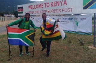 Road trip hits a snag for Bafana fan and his Zimbabwe counterpart