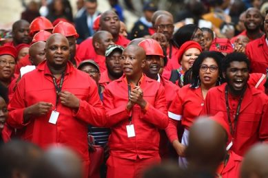 'Please close the door!' EFF leave parliament after disrupting Sona