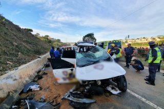 One dead, three critical in KZN crash