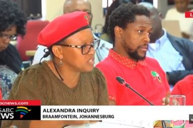 EFF defends 'occupy land' claims at Alex inquiry while Malema doesn't pitch