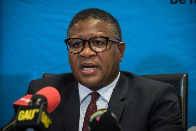 Transport Minister Fikile Mbalula is seen during a press briefing. Picture: Jacques Nelles