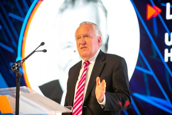 British politician Lord Peter Hain speaking at the South African Property Owner's Association 2019 Convention in Cape Town. Picture: Sapoa