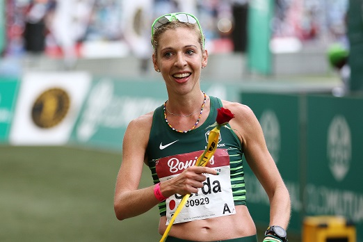 Second lady Gerda Steyn during the 2018 Comrades Marathon on June 10, 2018 in Durban, South Africa. (Photo by Anesh Debiky/Gallo Images)