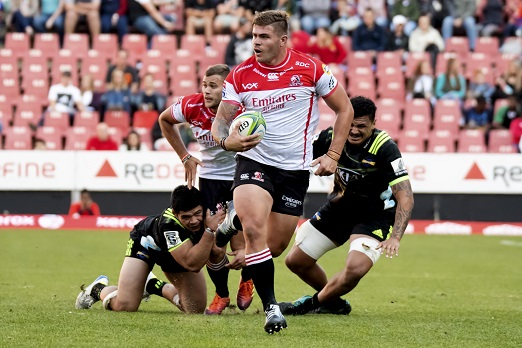 Malcolm Marx of the Lions during the Super Rugby match between Emirates Lions and Hurricanes at Emirates Airline Park on June 08, 2019 in Johannesburg, South Africa. (Photo by Wessel Oosthuizen/Gallo Images)