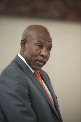 Governor Lesetja Kganyago speaks, 5 June 2019, at an event where the South African Reserve Bank and South African Mint released a set of special commemorative coins celebrating 25 years of South Africa's democracy, at Constitution Hill in Johannesburg. Governor Kganyago also unveiled the designs of the new circulation coins which include five new R2 coins and a new R5 coin which will be in circulation over the next few months. Picture: Michel Bega