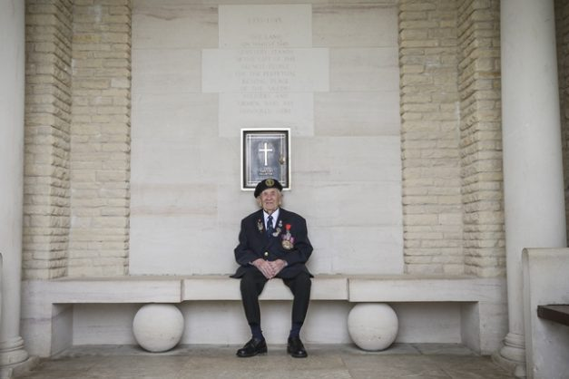 Victor Urch, a 94 year old veteran, poses at the Bayeux Cemetery in France prior to the D-Day commemmorations on 6 June 2019. Picture: EPA-EFE / SGT. ROSS TILLY / BRITISH MINISTRY OF DEFENCE