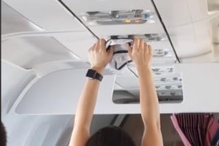 WATCH: Woman sparks social media debate after using plane fan to dry underwear