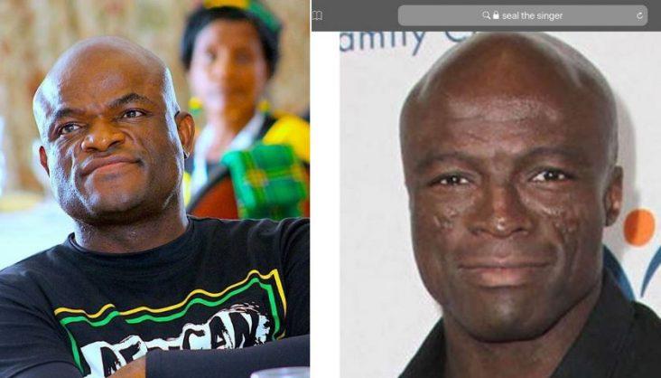 Northern Cape Premier Zamani Saul and musician Seal | Image: Twitter