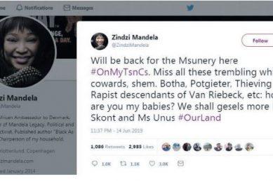 Zindzi Mandela nowhere to be found after 'race' tweets