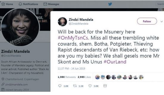 Zindzi Mandela nowhere to be found after 'race' tweets