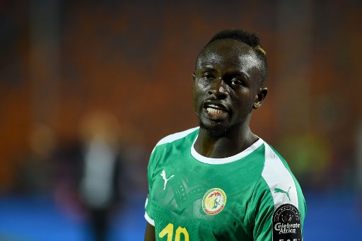 Senegal's forward Sadio Mane looks on after scoring a goal during the 2019 Africa Cup of Nations (CAN) Round of 16 football match between Uganda and Senegal at the Cairo International Stadium in the Egyptian capital on July 5, 2019. (Photo by MOHAMED EL-SHAHED / AFP)