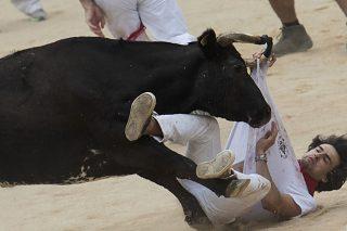 Two Americans, Spaniard gored in Spain's Pamplona bull run