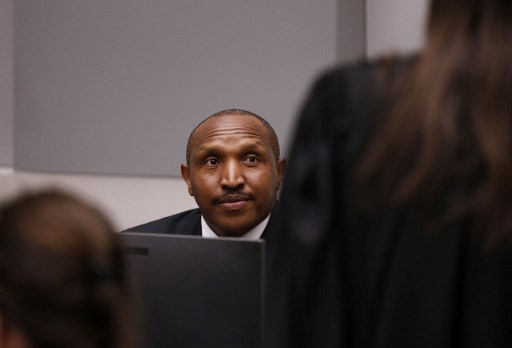 Former Congolese militia leader Bosco Ntaganda sits in the courtroom of the International Criminal Court (ICC) in The Hague, The Netherlands, July 8, 2019. Picture: EVA PLEVIER / various sources / AFP