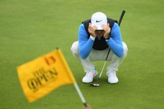 Frittelli flying SA flag after first round at The Open