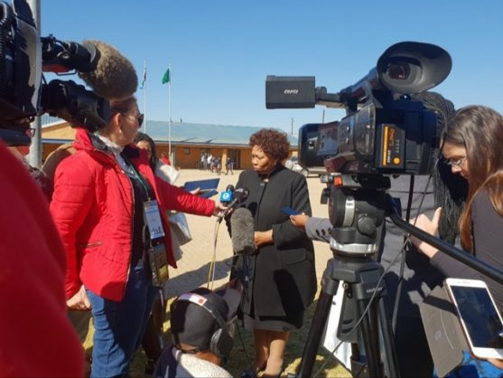 Minister of Basic Education Angie Motshekga addressing the media after releasing the Teaching and Learning International Survey (Talis) at Nellmapius Secondary School in Pretoria, 2 July 2019. Picture: Brenda Masilela / ANA