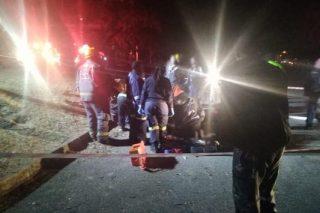 Man and woman critically injured in Gauteng motorbike crash