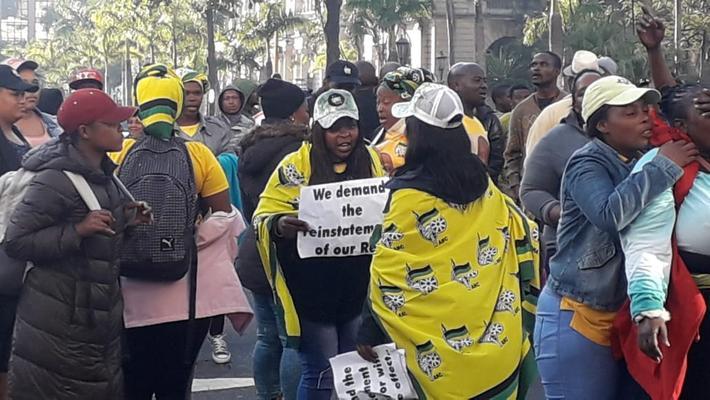 Despite several arrests, Gumede's supporters regroup and resume protest