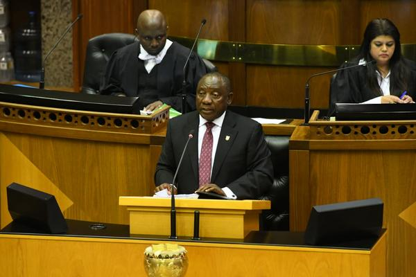 Presidency Cyril Ramaphosa tables the presidency budget during a debate in the National Assembly. Photo: GCIS