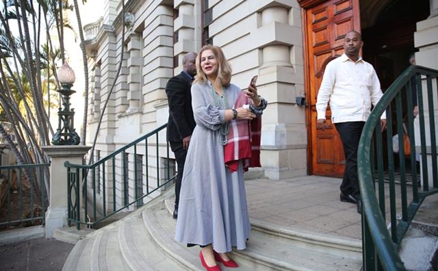 Ethekwini acting mayor Fawzia Peer arrives at Durban City Hall on Tuesday morning, 9 July 2019. Picture: Motshwari Mofokeng / African News Agency (ANA)