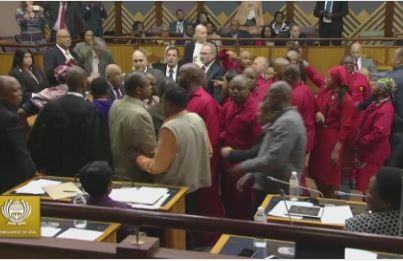 Helen Suzman Foundation slams EFF's conduct towards Gordhan