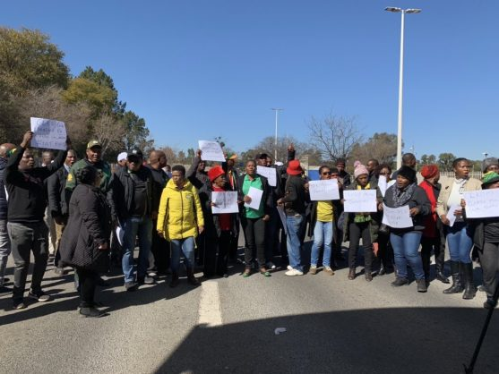 Members of ANC Johannesburg caucus protest outside Eskom's Megawatt Park offices in Sunninghill, Johannesburg, 9 July 2019. Picture: Supplied