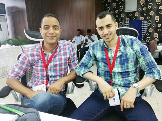 Ahmed Tawfic and Ayman Mostafa. Picture: Vhahangwele Nemakonde