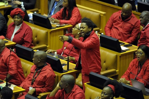 EFF unrepentant, defends its Gordhan protest in parliament