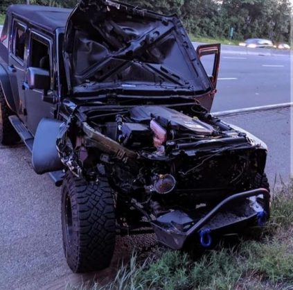 VIDEO: Watch as tyre collides with Wrangler on 287 in the USA