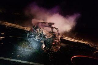 Three die in inferno after horror crash