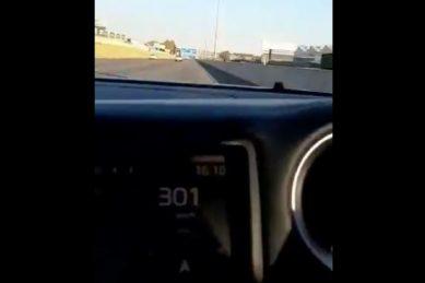 WATCH: Car clocks 322km/h on R21 near Kempton Park