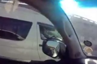 WATCH: 'Hammer' thrown, windows smashed in taxi vs motorist clash